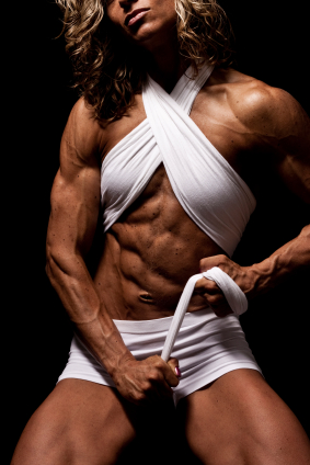 hairy muscle woman
